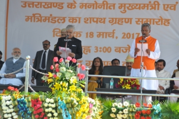 Trivendra Rawat sworn in as Uttarakhand CM